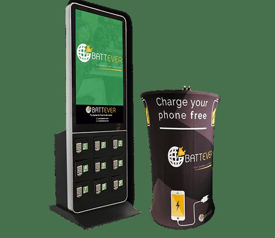 Cargadores para celulares en negocios y eventos