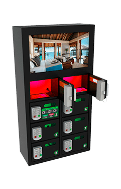 Locker para celulares con pantalla