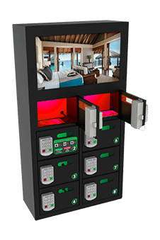 Locker para celulares con pantalla OOH DOOH